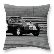 Vintage Mg On Track Throw Pillow