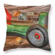Vintage Midget Racer Throw Pillow