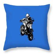 Vintage Motocross Throw Pillow