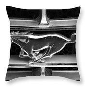 Vintage Mustang Logo Throw Pillow