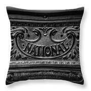 Vintage National Cash Register Throw Pillow