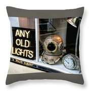 Vintage Nautical Items For Sale Throw Pillow