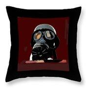 Vintage Nazi Gas Mask Barry Sadler Collection Tucson Arizona 1971-2016 Throw Pillow