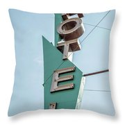 Vintage Neon Sign Hotel Livingston Montana Throw Pillow