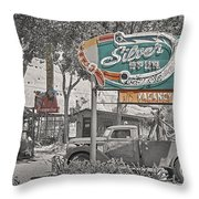 Vintage Neon Signs Throw Pillow