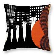 Vintage New York Glamour Art Deco Throw Pillow