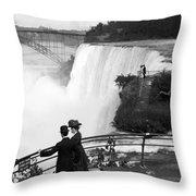 Vintage Niagara Falls - View From Goat Island - 1908 Throw Pillow