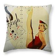 Vintage Nose Art Aces High Throw Pillow