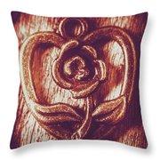 Vintage Ornamental Rose Throw Pillow