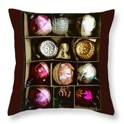 Vintage Ornaments Throw Pillow
