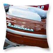 Vintage Outboard 2 Throw Pillow