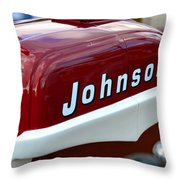 Vintage Johnson Outboard Red  Throw Pillow