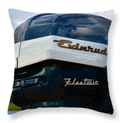 Vintage Evenrude Outboard  Throw Pillow