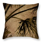 Vintage Palm Throw Pillow