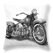 Vintage Panhead Throw Pillow