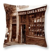Vintage Paris 3 Throw Pillow