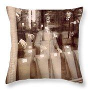 Vintage Paris Men's Fashion Throw Pillow