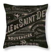 Vintage Paris Sign Throw Pillow