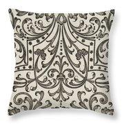 Vintage Parterre Design Throw Pillow