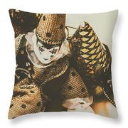 Vintage Party Puppet Throw Pillow
