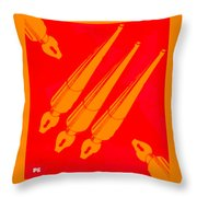 Vintage Pen Set Throw Pillow
