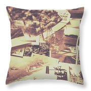 Vintage Photo Design Abstract Background Throw Pillow