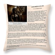 Vintage Photograph Of Vincent Van Gogh - Taken 13 Years After His Death - Article Throw Pillow