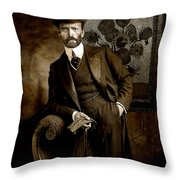 Vintage Photograph Of Vincent Van Gogh - Taken 13 Years After His Death Throw Pillow