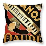 Vintage Piano Art Deco Throw Pillow