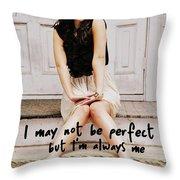Vintage Poise Quote Throw Pillow