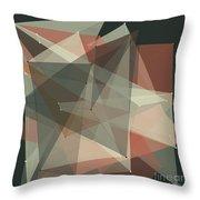 Vintage Polygon Pattern Throw Pillow