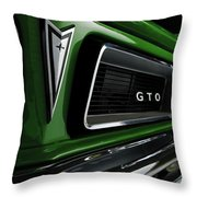 Vintage Pontiac Gto - Doc Braham - All Rights Reserved Throw Pillow