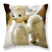 Vintage Poodle Throw Pillow