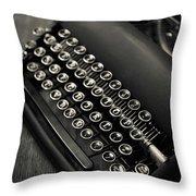 Vintage Portable Typewriter Throw Pillow