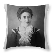 Vintage Portrait Of Young Lady Throw Pillow