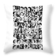 Vintage Portrait Photos Depict Womens Hairstyles Of The 1930s  - Doc Braham - All Rights Reserved. Throw Pillow