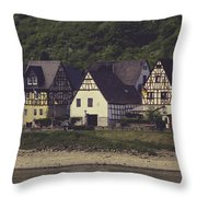 Vintage Postcard Look Of Spay Germany Throw Pillow