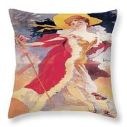 Vintage Poster - Arlette Dorgere Throw Pillow