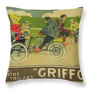 Vintage Poster Bicycle Advertisement Throw Pillow