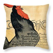 Vintage Poster - Cocorico Throw Pillow