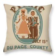 Vintage Poster Old Settlers Picnic Throw Pillow