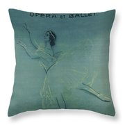 Vintage Poster - Saison Russe Throw Pillow