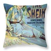 Vintage Poster - The Sheik Throw Pillow