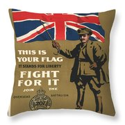 Vintage Poster - This Is Your Flag Throw Pillow