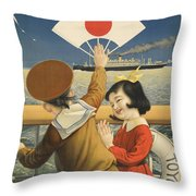 Vintage Poster - Toyo Kisen Kaisha Throw Pillow