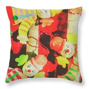 Vintage Pull String Puppets Throw Pillow