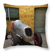 Vintage Racing Car Throw Pillow