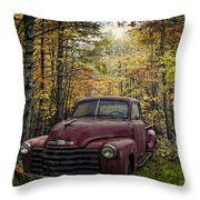 Vintage Red Throw Pillow