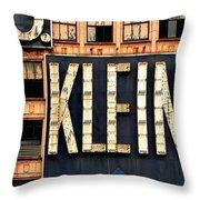 Vintage Retail Sign Throw Pillow