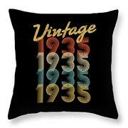 Vintage Retro Since 1935 Birthday Gift Throw Pillow